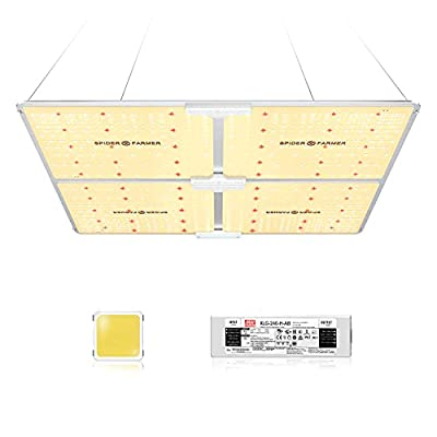 SPIDER FARMER SF-4000 LED Grow Light 5'x5' Coverage Compatible with Samsung LM301B Diodes Dimmable Commercial Grow Lights for Indoor Plants Full Spectrum 3000K 5000K 660nm 760nm IR 1212pcs LEDs