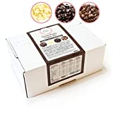 Sweet Wishes Chocolate belga para fondue. 900 gr. Mix de chocolate con leche, negro y blanco para fuentes de chocolate. 10 sobres embalados individualmente.