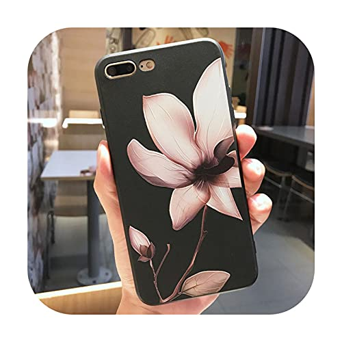 Daisy Schutzhülle für iPhone X XR XS Max 12 Mini 11 Pro Max Hülle für iPhone 6 6s 7 8 Plus SE 2020 Silikon 3D Relief Blume Soft Cover T4-iphone 11 Pro Max
