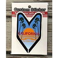 ライフスタイル ブランド 初心者マーク ステッカー シール CAL カリフォルニア カスタム ステッカー CS-35