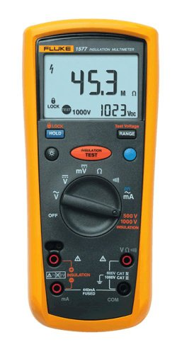 Fluke 1577 Insulation Multimeter, LCD Display, 600 Megaohm Resistance, 500/1000V Voltage