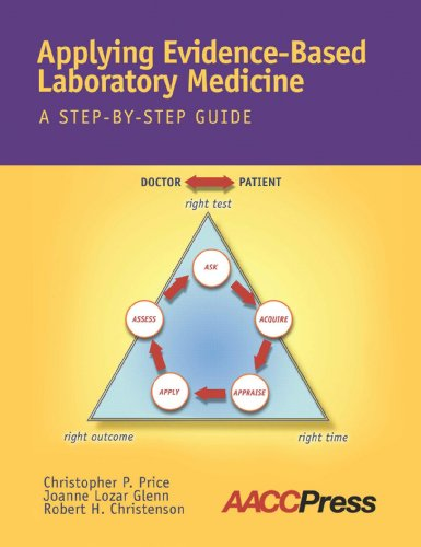 Compare Textbook Prices for Applying Evidence-Based Laboratory Medicine: A Step-By-Step Guide 1 Edition ISBN 9781594250897 by Christopher P. Price,Joanne Lozar Glenn,Robert H. Christenson