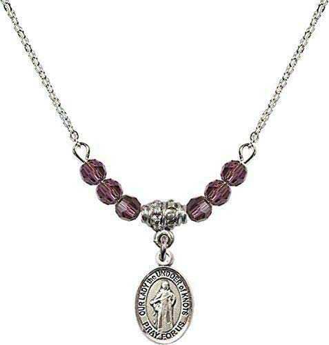 RIF Store February Birth Max 66% OFF Month Bead Lady New Shipping Free The Our U Necklace with
