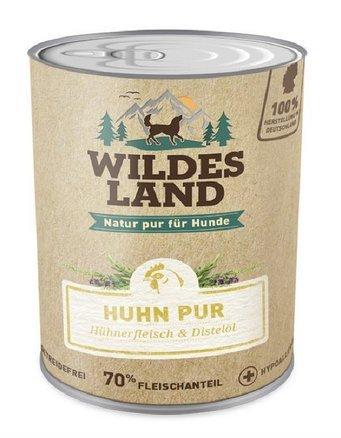 Wildes Land Hundefutter Nassfutter Huhn PUR 400g (18 x 400g)