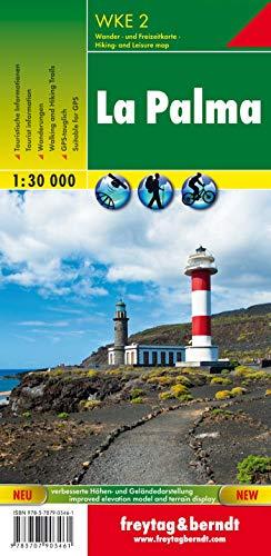 La Palma, mapa excursionista WKE 2. Escala 1:30.000. Freytag & Berndt.: GPS-tauglich, Wanderrouten, Radrouten (Wander Karte)