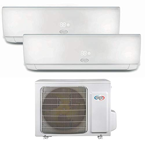 Climatizzatore 9000 + 12000 Btu Dual Split Inverter con Pompa di Calore Classe A++/A+ Ecolight Dual