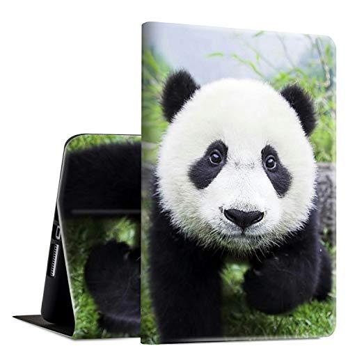Rossy - Funda para Galaxy Tab A 10.1 (2016,SM-T580/T585/587, funda de piel sintética con función atril ajustable y función de encendido y apagado automático para Samsung Galaxy Tab A 10.1 pulgadas 2016, Baby Panda