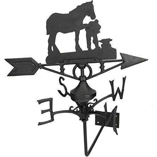 Wetterfahne für Pferde/Stute Farrier Wandmontage Haus Dach Gusseisen Schuh