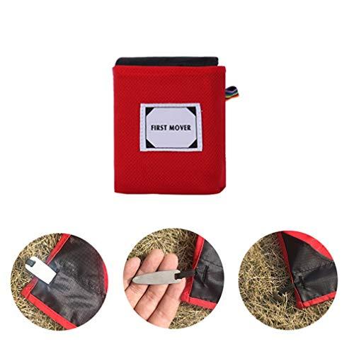X-Labor - Couverture de Pique-Nique Ultra légère - Imperméable - Anti-Sable - en Nylon Compact - Portable 150x180 cm Noir