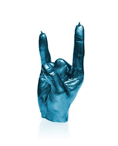 candellana Velas candellana-Rock N 'Roll Vela, Color Azul metálico