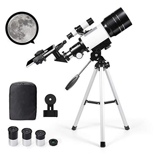 天体望遠鏡 セット 高倍率 屈折式 ODIKALA バッグ付き スマホアダプター付き 初心者 子供 向け プレゼント スマホホルダー