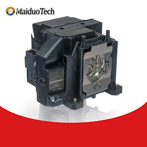 MaiDuoTech - Bombilla de Repuesto para proyector Epson ELPLP67 con Carcasa para Epson PowerLite EB-S02 EB-S11 EB-S12 EB-X11 EB-X12 1221 1261 W MG-850HD