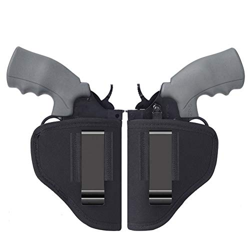 Anjilu 2-Pack Right Left IWB Holster | Fits Most J Frame Revolvers/Ruger LCR/Smith & Wesson Body Guard/Taurus/Charter/Most .38 Special Type Guns