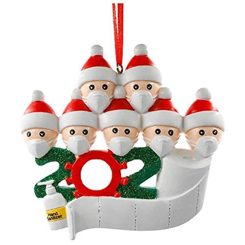 Kobay Famille d'ornements de Noël personnalisés de la Famille de quarantaine 2020 Cadeaux pour Les Amis de Petits-Enfants (WOW-7, Free)