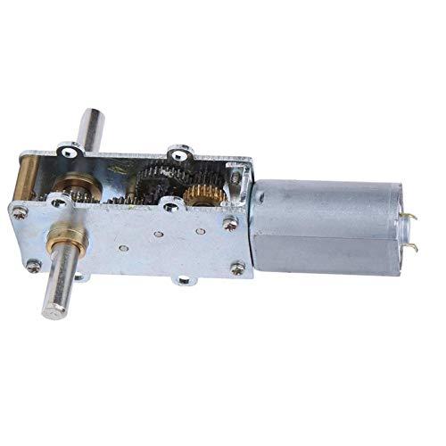 Uxsiya 12V 0.5A Motor de engranaje de torsión grande grande del engranaje de torsión para los juguetes eléctricos para el soporte de exhibición (12V7.5 vuelta)