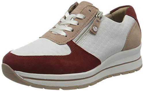 Tamaris Damen 1-1-23740-24 Sneaker, Weiß (Wht/Ruby Comb 148), 36 EU