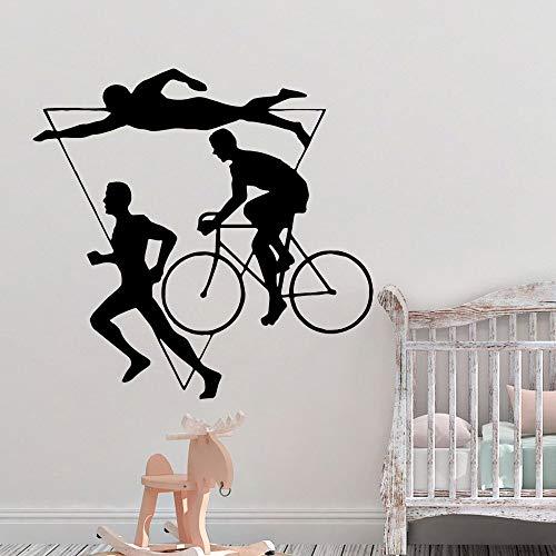 yaonuli Sportloop zwemmen muursticker zelfklevend behang vinyl sticker wandsticker thuis