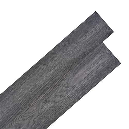 Tidyard Vinyl-PVC Laminat Dielen Selbstklebend, 5,02 m2, Rutschfest, Wasserfest, Schwer Entflammbar, Schimmelbest?ndig, für Küche, Bad, Flur oder Wohnzimmer, 4 Dekors w?hlbar - Schwarz und Wei?