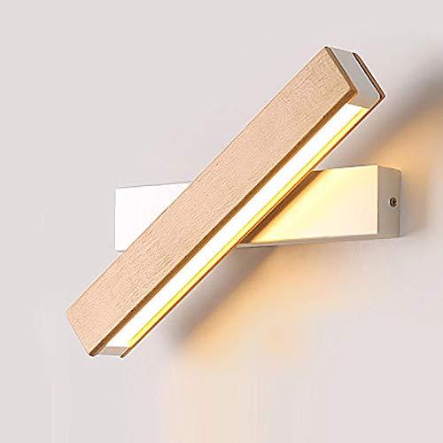 Comely Lámpara de Pared LED Interior Blanco Aplique de Pared giratoria de 360° Luz de pared Blanco Cálido Moderna LED Apliques Pared para Sala de estar Dormitorio Escalera Pasillo
