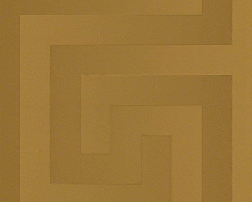 Versace wallpaper 935232 93523-2 Tapete geometrisch grafisch Vliestapete Greek, goldfarben, 10,05 m x 0,70 m