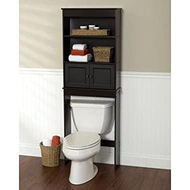 Freestanding Espresso Space Saver Bathroom Shelf, Black by Zenith Products