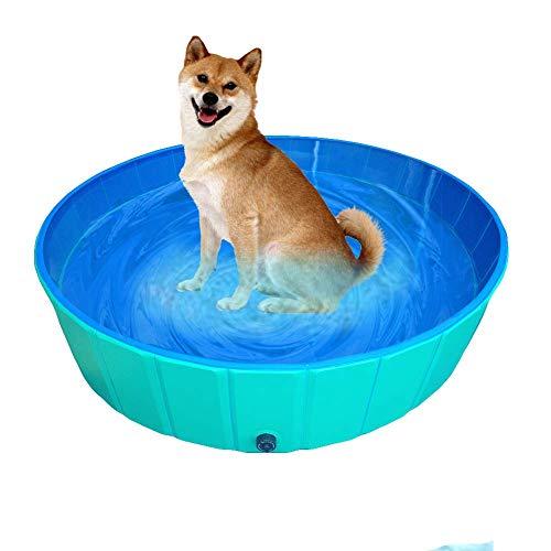Delifur - Piscina plegable de PVC para perros, gatos, piscinas al aire libre para nadar o jugar estanque