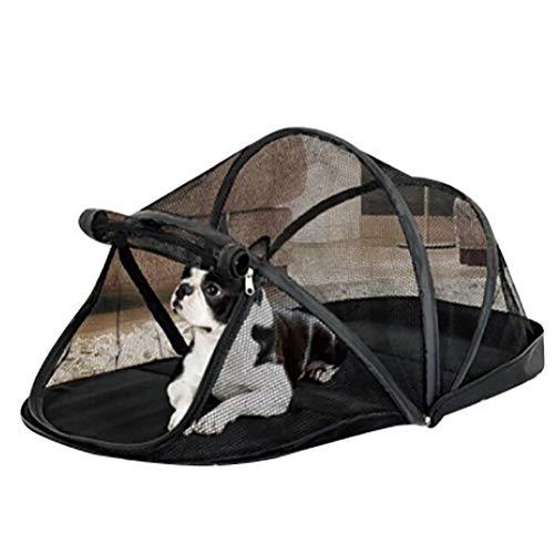 HEI SHOP Tragbarer Hundekäfig für kleine Hunde, Katzennetz, Zelt für Katzen, draußen, faltbar, mit Moskitonetz-Zelten