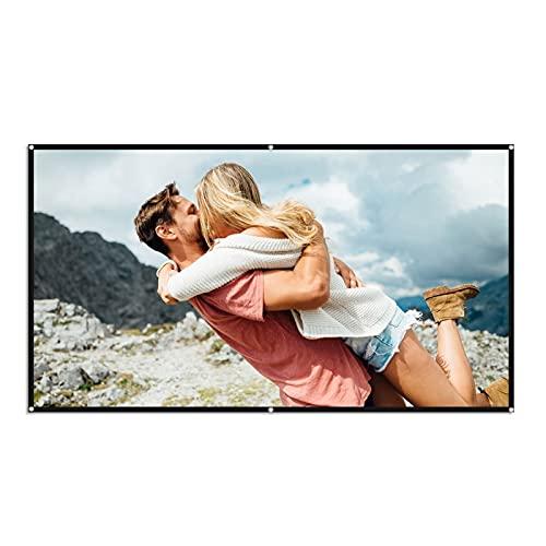 pantalla proyector Pantalla de proyector portátil Cortina simple 80 / 100/120 pulgadas Poliéster con cine de cine de cine en casa comprimido plegable Portátil Projector Screen para Cine en casa