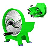 WGGTX Rallador de Queso Cortador Vegetal, rebanadora de Frutas, Multi-función Slicador Manual Ajustable, alimento y Cebolla...