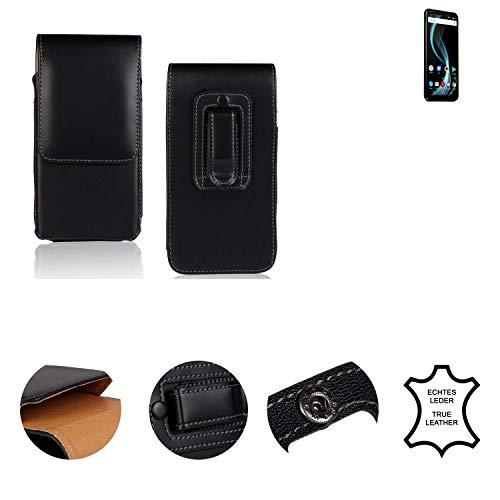 K-S-Trade® Holster Gürtel Tasche Für Allview X4 Soul Infinity Plus Handy Hülle Leder Schwarz, 1x