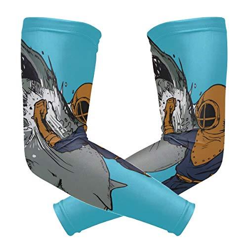 LUPINZ Kompressions-Armmanschette für Taucher und Boxen, UV-Schutz, Kühlung, Sonnenschutz, für Outdoor-Sportarten, 1 Paar