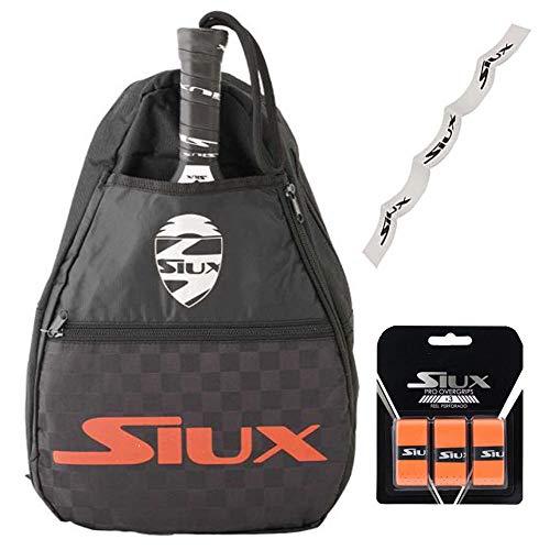 Bandolera Siux + Overgrip + Protector Transparente/para Hombre y Mujer/Transporta Tus Palas de Padel de Forma Comoda y Segura/para Nivel intermedio avanzado y Principiante (Rojo)