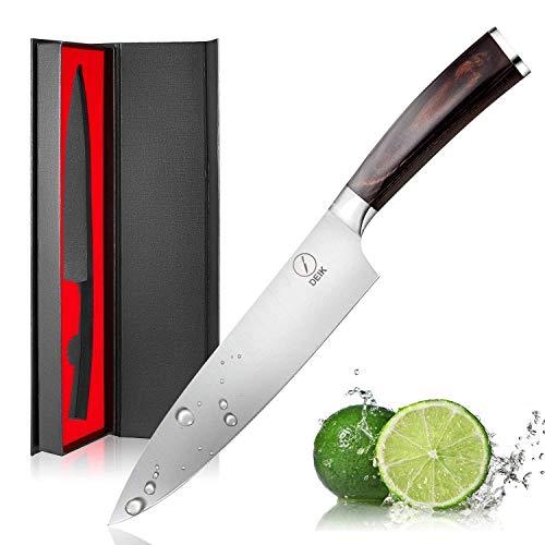 Acero INOX HOME Professional Cuchillo de Pan 24 cm Negro