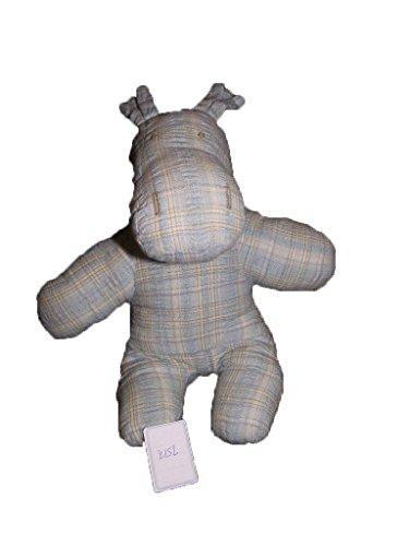 X- otros–Doudou Sergent Major hipopótamo perro Rayure azul gris–2152