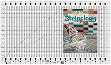 Creative Grids Stripology Quilt Ruler (CGRGE1) Bundle with Book