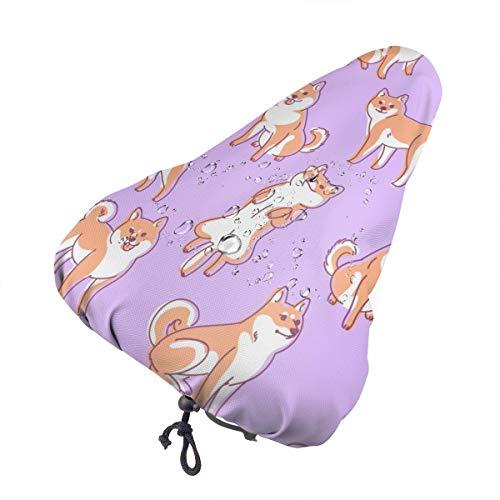 No aplicable para el día de la concienciación del autismo, asiento de bicicleta extra suave, cojín para sillín de bicicleta con cubierta resistente al agua y al polvo, Spanish Staffordshire Bull Terrier Dog, talla única