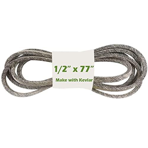 Courroie d'entraînement pour tondeuse à gazon 1/2' x 195,6 cm avec Kevlar compatible avec MTD/Cub Cadet 754-04062, 942-04062, Murray 37X70, 037X70MA, 37X70MA