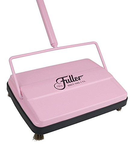 Fuller Brush 17072 Electrostatic Carpet & Floor Sweeper - 9' Cleaning Path - Lightweight - Ideal for Crumby Messes - Works On Carpets & Hard Floor Surfaces - Pretty Pink