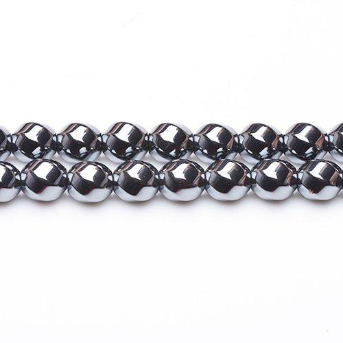 Hématite (Non Mag) Perles Gris Hexagone Twistée 8mm Fil De 48+