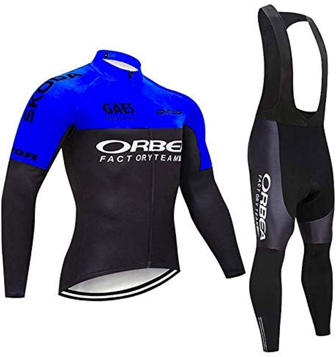 Logas Long Sleeve Cycling Jersey Set Men's Suit Pro Sport Clothing