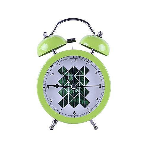 Qaaqiy Creativa Reloj Campana de Alarma del pequeño Despertador por Moda Estudiantes y niños Lazy Alto Volumen de Alarma Despertador...