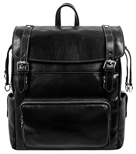 Leather Backpack Travel Bag Carry On Full Grain...