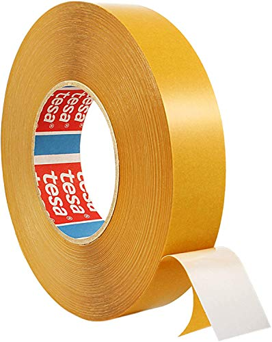 tesafix 4970 | Extra stark haftendes, doppelseitiges Klebeband | Farbe: weiß, Länge: 50 m, versch. Breiten (12 mm x 50 m)