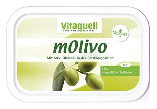 Vitaquell mOlivo Pflanzen-Margarine 250g mit wertvollem Olivenöl natürlich vegan