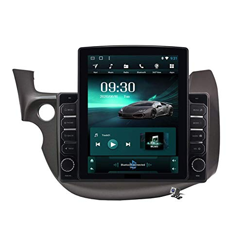 Estéreo para coche Android 9.0, compatible con radio Honda Fit Jazz 2008-2013 LHD RHD Navegación GPS Unidad principal de pantalla vertical de 9,7 pulgadas Reproductor multimedia MP5 Video con 4G WiFi