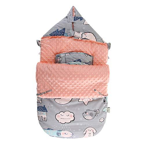 IPOTCH Bebé Infantil Recién Nacido Saco de Dormir de Dibujos Animados Manta Caliente - C