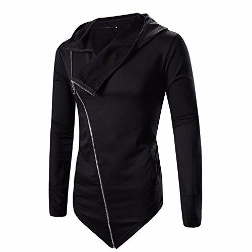 Luckycat Neuer Männer Reißverschluss Mantel Outwear Pullover Winter Slim Hoodie Langarm Swearshirt Schwarz Mode 2018