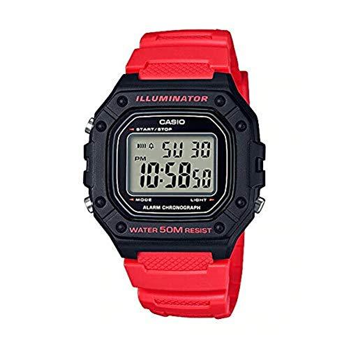 [カシオ]STANDARD DIGITAL カシオ スタンダード デジタル W-218H-4B 腕時計 メンズ レディース チープカシオ チプカシ プチプラ ブラック 黒 レッド 赤 [並行輸入品]
