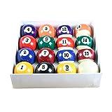 Set of Quality - Juego de bolas de billar (5 cm de diámetro, bola blanca de 4,7 cm de...