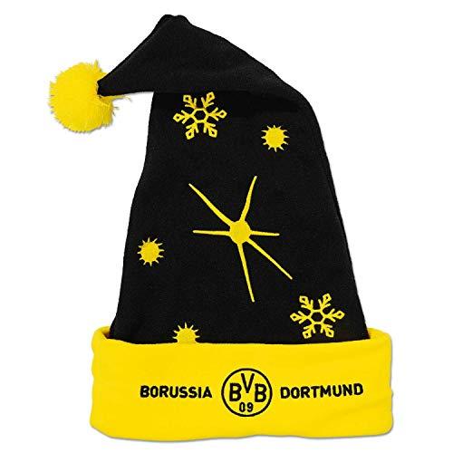 Borussia Dortmund BVB Nikolausmütze/Weihnachtsmütze ** Logo mit Schriftzug **